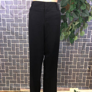 AB STUDIO WMS 10 BLACK POLYESTER BLEND PANTS GUC